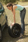 Tire change Royalty Free Stock Images
