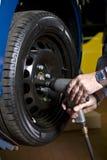 Tire change Royalty Free Stock Photo