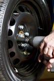 Tire change Stock Photos