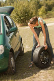 Tire change on the car Stock Image