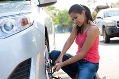 Tire  change Stock Photography