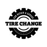 Tire Change vintage stamp Royalty Free Stock Photography