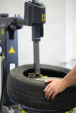 Tire changing Stock Images