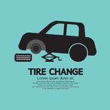 Tire Changing. Graphic Vector Illustration vector illustration