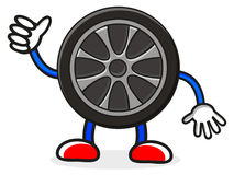 Tire character Royalty Free Stock Images