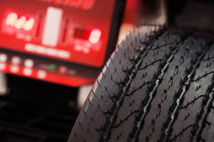 Tire check Stock Photography