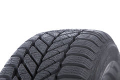 Tire Close up. On white background Stock Photo