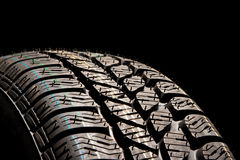 Tire close up. New car tire close up Stock Images