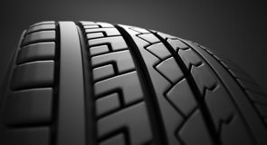 Tire close up. Royalty Free Stock Photography