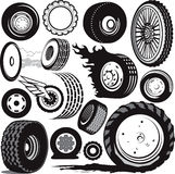 Tire Collection Royalty Free Stock Photos