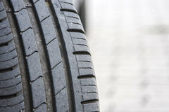 Tire consumed. After a long travel Royalty Free Stock Image
