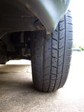 Tire damage Stock Photography