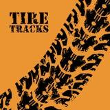 Tire design. Over orange background, vector illustration Stock Images