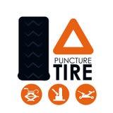 Tire design. Over white background, vector illustration Stock Image
