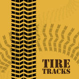 Tire design. Over yellow background, vector illustration Royalty Free Stock Photography