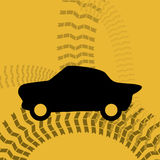 Tire design. Over yellow background, vector illustration Stock Image