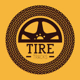Tire Design over yellow background vector illustration Stock Photo