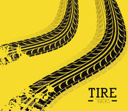 Tire Design over yellow background vector illustration vector illustration