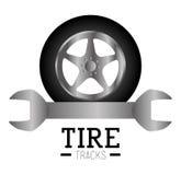 Tire design, vector illustration. Stock Photos