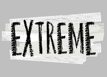 Tire Extreme Lettering Royalty Free Stock Image