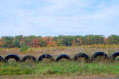 Tire Fence Royalty Free Stock Photo