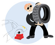 For tire fitting agent Royalty Free Stock Photography