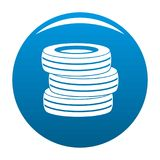 Tire fitting icon blue vector. Tire fitting icon vector blue circle isolated on white background Royalty Free Stock Images