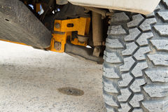 Tire four-wheel drive. Royalty Free Stock Photography