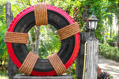 Tire Garden Decor Royalty Free Stock Images