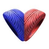 Tire heart Stock Photos