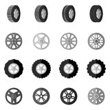 Tire Icon Black Stock Image