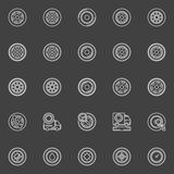 Tire icons set Royalty Free Stock Photography