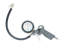 Tire inflator with gauge Stock Image
