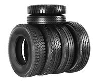 Tire.Isolated Royalty Free Stock Photography