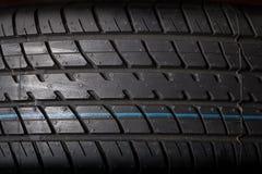 Tire. Isolated on black background Stock Photo