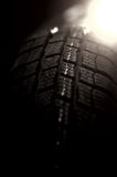 Tire isolated on black background and light from the back Royalty Free Stock Photo