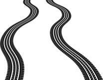 Tire. Isolated wavy tire tracks - vector illustration Stock Photography
