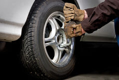 Tire and Lug nuts Stock Image