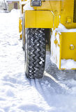 Tire machines for snow removal on Kamchatka Stock Image
