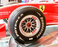 Tire Manufacturer Bridgestone. A Bridgestone Formula One racing tire Stock Photo