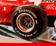 Tire Manufacturer Bridgestone. A Bridgestone Formula One racing tire Royalty Free Stock Image