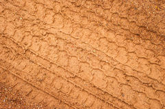 Tire mark. In wet laterite,close up Royalty Free Stock Images