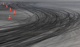 Tire marks Royalty Free Stock Photos