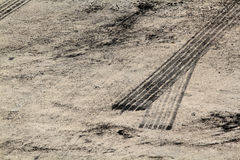 Free Tire Marks On Road Track Stock Images - 45034794