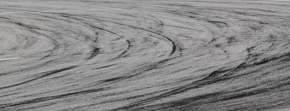 Tire marks on road track Stock Photo