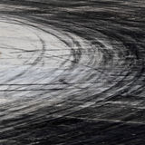 Tire marks on road track royalty free stock photography