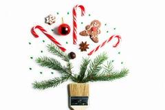 Tire-me conceito criativo da composição do feriado de inverno do ano novo do Natal imagens de stock