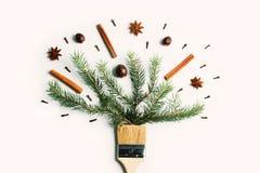 Tire-me conceito criativo da composição do feriado de inverno do ano novo do Natal fotografia de stock royalty free