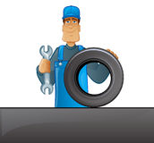 Tire Mechanic Royalty Free Stock Image