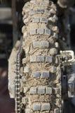 Tire of motocross bike Stock Image